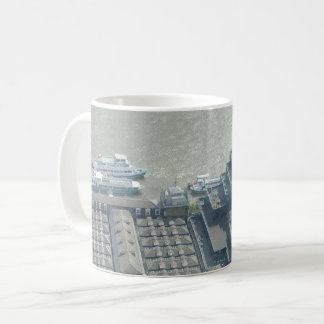 Thames Aerial View White Coffee Mug