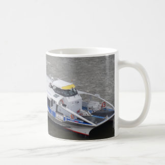 Thames Cruise Boat White Coffee Mug