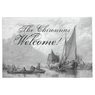 Thames River Boats Ships England Welcome Doormat