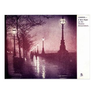 Thames River London Postcard