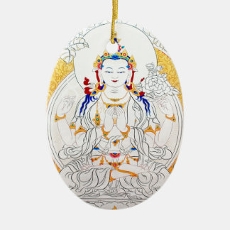 THANGKA PAINTING TIBET ART CERAMIC ORNAMENT