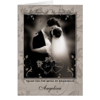 Thank a Bridesmaid Wedding Thank You Card