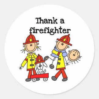 Thank a Firefighter Classic Round Sticker
