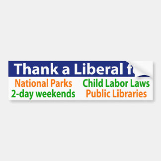 Thank a Liberal for a lot of your privileges Bumper Sticker