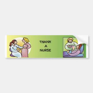 Thank a Nurse - Maternity Bumper Sticker