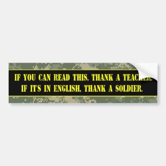 Thank a Soldier Bumper Sticker
