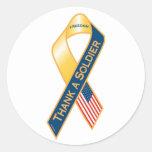Thank A Soldier Classic Round Sticker