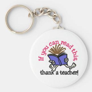 Thank A Teacher Keychain