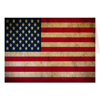 Thank a Vet Antique Grunge American US Flag Card