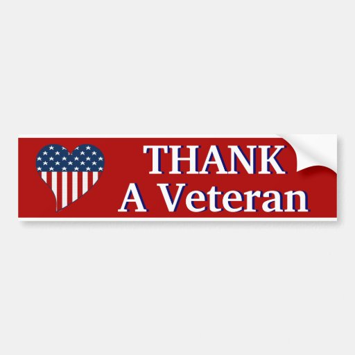 Thank a Veteran Bumper Stickers