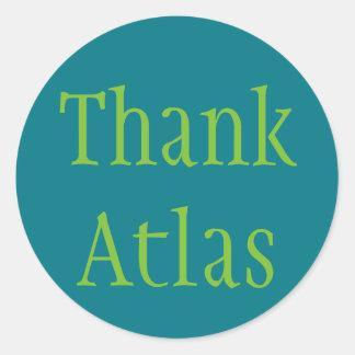 Thank Atlas Classic Round Sticker
