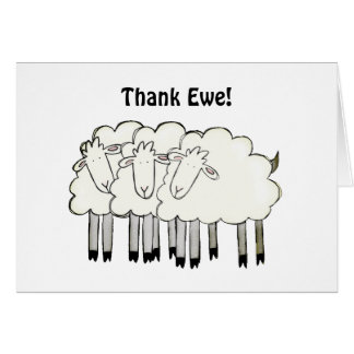 "Thank ""Ewe!"" Card"