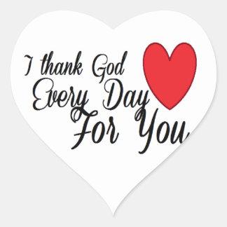Thank God Every Day Heart Sticker