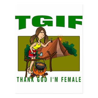 Thank God I'm Female Postcard