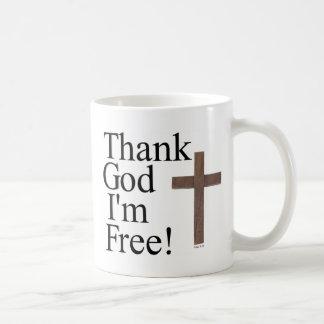 Thank God I'm Free Basic White Mug