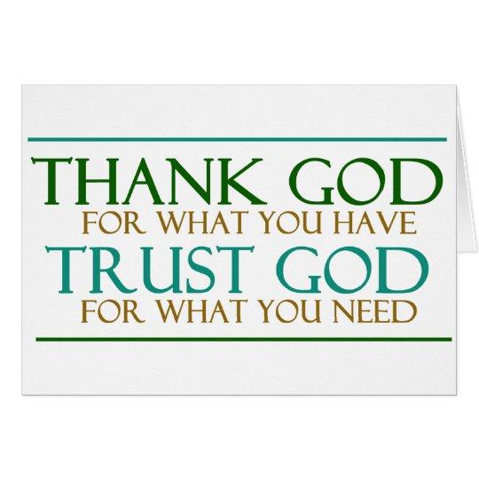 Thank God Trust God Card