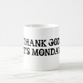 THANK GODIT'S MONDAY COFFEE MUG