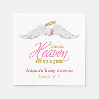 Thank Heaven for Little Girls Baby Shower Napkins Paper Napkin