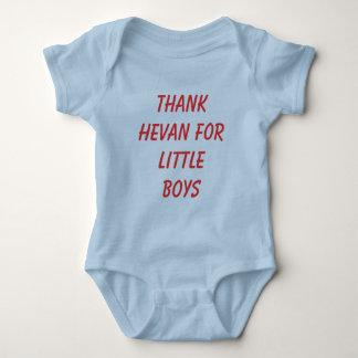 THANK HEVAN FOR LITTLE BOYS BABY BODYSUIT