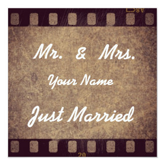 "Thank map ""Just Married "" Card"