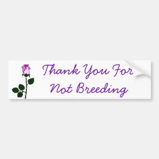 Thank Non-Breeders Bumper Sticker