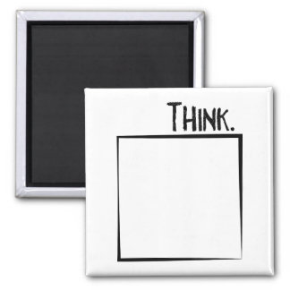 Thank Outside The Box Literal Typography Magnet