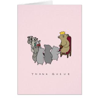Thank Queue   Cute Sloth Thank You Card