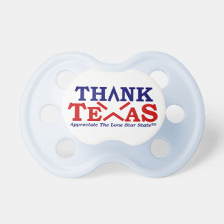 THANK TEXAS Baby Blue Baby Pacifiers