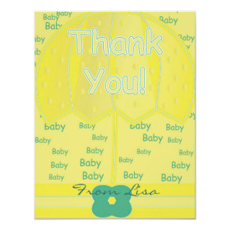 "Thank You 4.25"" X 5.5"" Invitation Card"