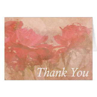 """""""thank you!"""" 5.6x4 Soft Roses Card"""