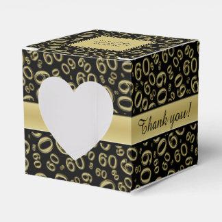"""Thank you"": 60th Birthday Party Gold/Black  Theme Favor Box"