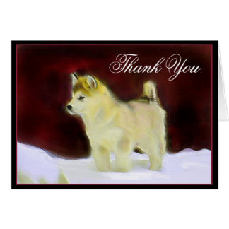 Thank You Alaskan Malamute greeting card