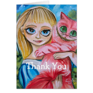 Thank You Alice in wonderland Card