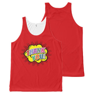 Thank You All-Over-Print Tank Top