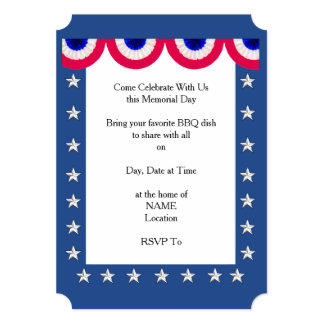 Thank You America Memorial Day Party Invitations