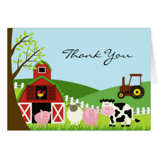 Thank You Animals Folded Card