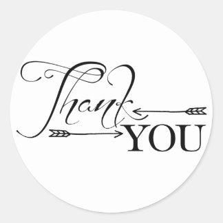 Thank You Arrows Round Sticker