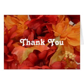 Thank you Autumn/Fall Colours Card