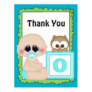 Thank you baby boy postcard