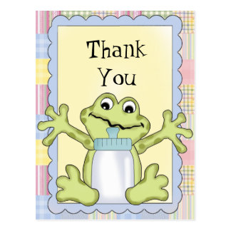 Thank You Baby Frog Postcard