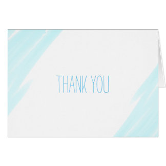 Thank you Baby Shower Card Blue Watercolor