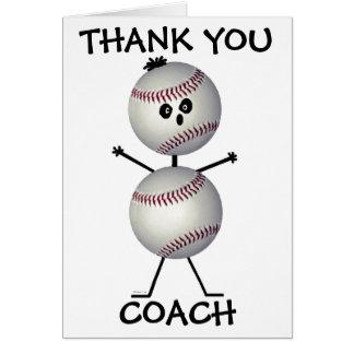 Thank You Baseball Coach Cards