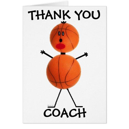 Thank You Basketball Coach Card