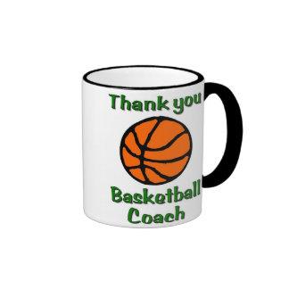 Thank you basketball coach ringer coffee mug
