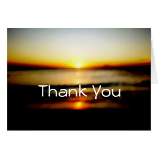 Thank You Beach Sunrise Wedding Card