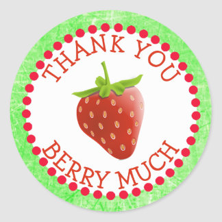 Thank you Berry Much Strawberry Stickers