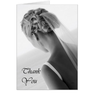 Thank you black and white Bride, The Bride Greeting Card
