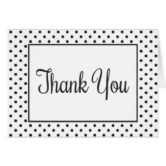 Thank You Black And White Polka Dot Card