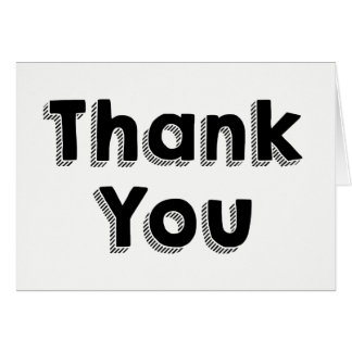 Thank You Black And White - Wedding. Party Card