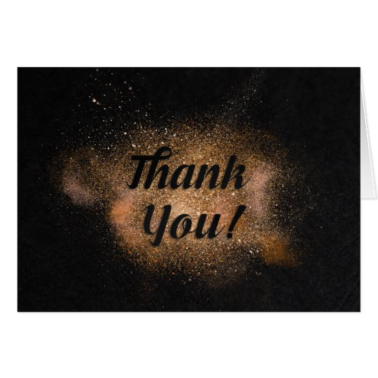 Thank You - Black Background Card